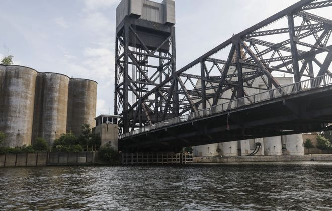 The Ohio Street lift bridge over the Buffalo River is getting a $16 million makeover. (Derek Gee/Buffalo News)