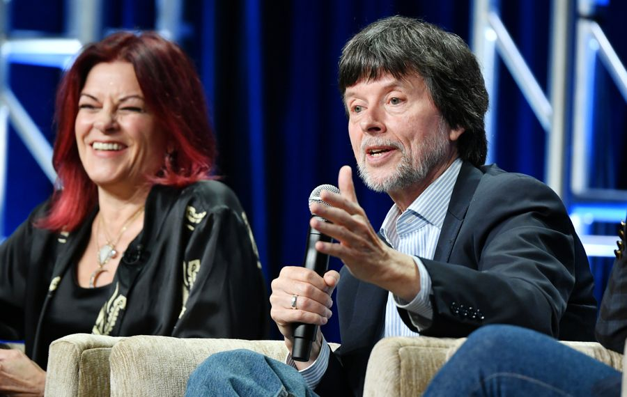 "Singer-songwriter Rosanne Cash and documentary filmmaker Ken Burns speak about Burns' ""Country Music"" documentary during the summer 2019 Television Critics Association press tour in July in Beverly Hill, Calif. (Photo by Amy Sussman/Getty Images)"