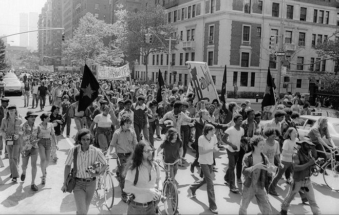 The Marijuana Smoke-In and March from Washington Square to Central Park in New York City in May 1974. (Allan Tannenbaum/Getty Images file photo)
