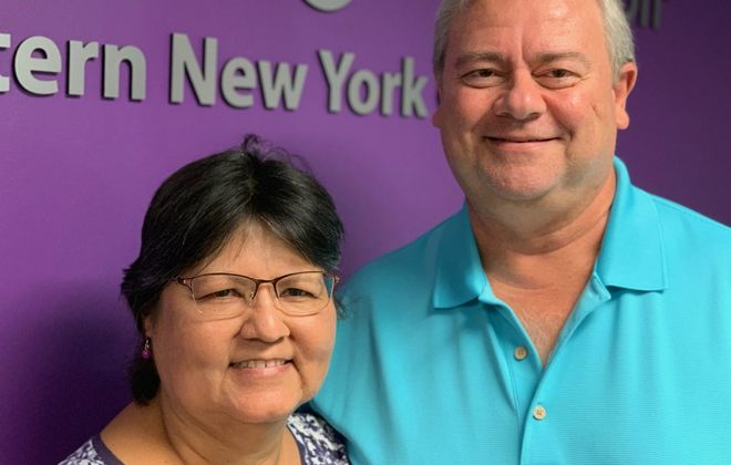 Donna and Dave Gonlag learn from others going through an Alzheimer's disease or dementia diagnosis as they share strategies of how they're coping with Dave's condition. (Scott Scanlon/Buffalo News)