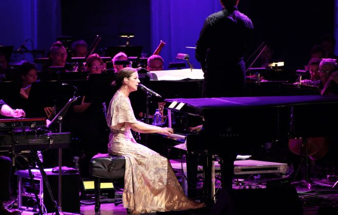 Sarah McLachlan and the regal Buffalo Philharmonic Orchestra played on Wednesday, July 31, 2019, at Artpark. (Sarah K. McIlhatten/Special to The News)