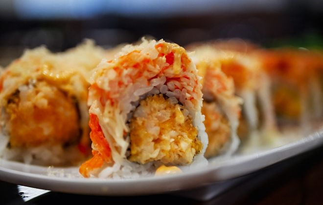 The Sea Angel Roll from Saika Sushi, which has opened in Depew. (Photo courtesy of Philip Borden)