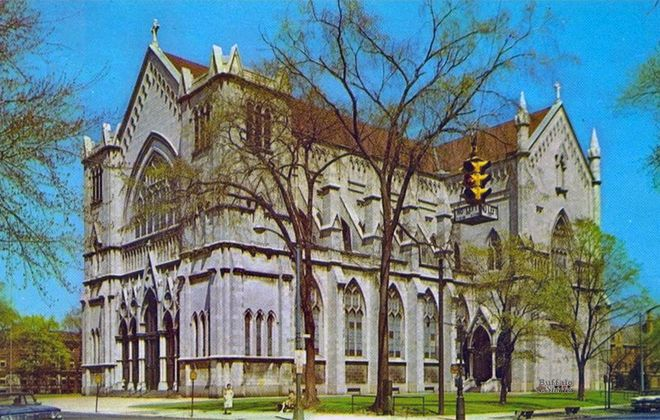 A postcard image of St. Joseph's New Cathedral from the mid-1960s. (Buffalo Stories archives)