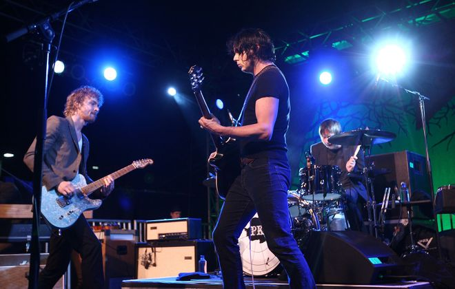 Brendan Benson and Jack White of The Raconteurs. (Getty Images)
