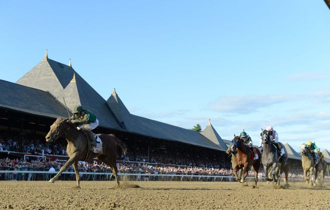 Code of Honors, captures the 150th Travers convincingly at Saratoga Race Course. Photo Credit: NYRA