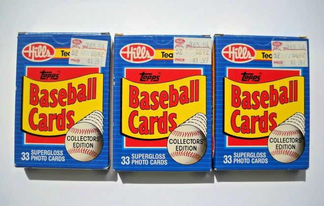 Baseball cards sold at Hills in 1989 are available on eBay from seller onlinedepot. (Contributed photo)