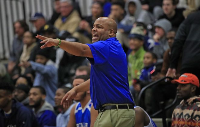 Tyree Parker has had success coaching Health Sciences basketball. (Harry Scull Jr./ Buffalo News)