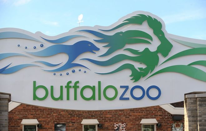 Visitors are greeted by this sign at the entrance to the Buffalo Zoo. (Sharon Cantillon/News file photo)