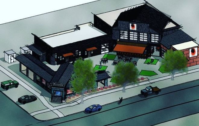 Gallo Coal Fire Kitchen plans to move into a two-story space at 402 Center St., Lewiston next year. (Rendering courtesy Gallo Coal Fire Kitchen)