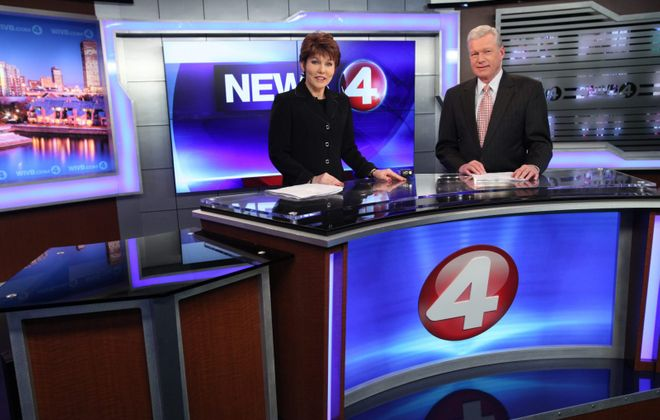 Veteran anchors Jacquie Walker and Don Postles have helped Channel 4 in the ratings. (Sharon Cantillon/News file photo)