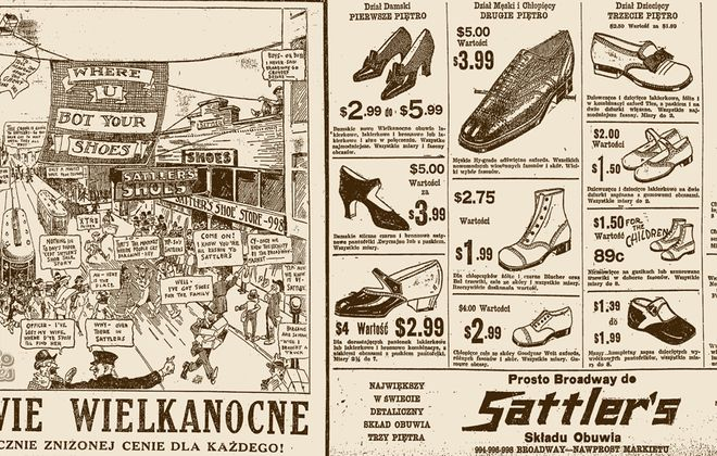 An ad for Sattler's Shoe Store at 998 Broadway in 1925.