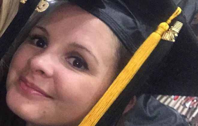 Tetiana Bruks, 34, who was found dead in her Cheektowaga home Sunday morning, graduated from a dental hygiene program at Erie Community College earlier this year. (Photo courtesy of Lexie Turner)