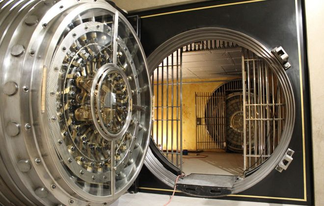 A vault under the former Marine Midland Bank will hold 20 to 25 people as part of Vault 237. (Photo courtesy Vault 237)