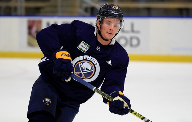 Victor Olofsson is looking to make the Sabres' roster out of training camp. (Harry Scull Jr./Buffalo News)