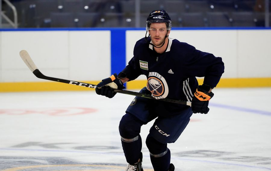 Colin Miller was stunned to learn his former coach in Vegas was fired after losing here Tuesday night. (Harry Scull Jr./News file photo)