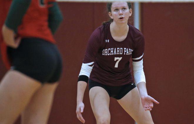 Orchard Park's Abby Ryan is among the area's top volleyball players. (Robert Kirkham/Buffalo News)