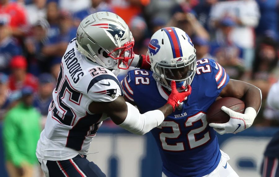 The Buffalo Bills could save nearly $2 million against the 2020 salary cap by releasing running back T.J. Yeldon. (James P. McCoy/Buffalo News)