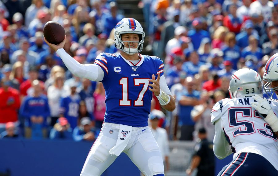 Bills quarterback Josh Allen is hoping for a better outcome in his rematch against the Patriots. (Harry Scull Jr./News file photo)