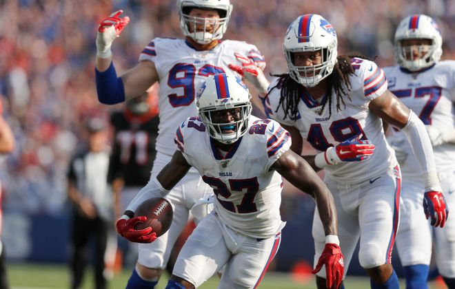 Bills cornerback Tre'Davious White is tied for the NFL lead with six interceptions. (Mark Mulville/News file photo)