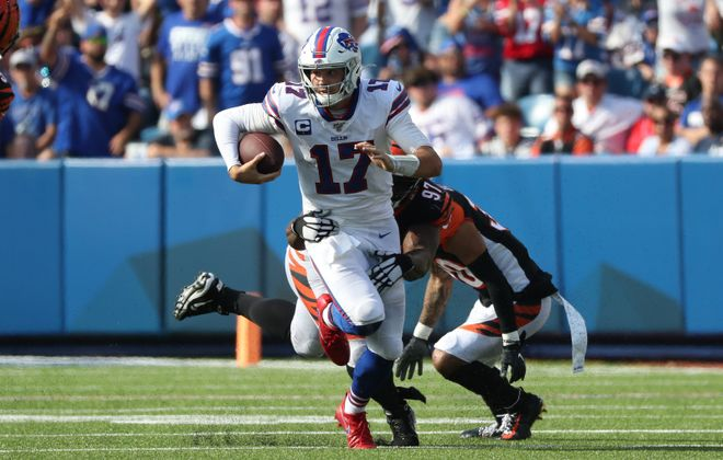 The Bills have started 16 different quarterbacks in the 21 years between Jim Kelly's retirement in January 1997 and drafting Josh Allen in April 2018. (James P. McCoy/Buffalo News)