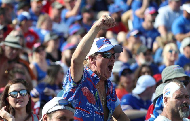 Buffalo Bills fan cheers on the Bills earlier this season (James P. McCoy/Buffalo News)