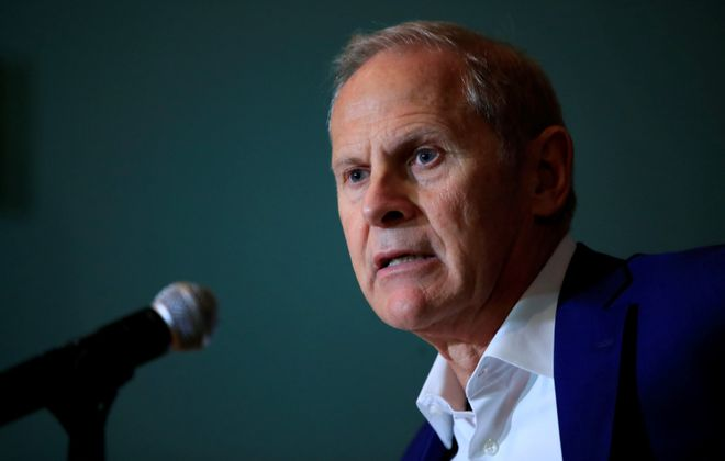 John Beilein, former Canisius College basketball coach, meets with the media prior to being inducted into the College's Sports Hall of Fame on Tuesday, Sept. 24, 2019. (Harry Scull Jr./Buffalo News file photo)
