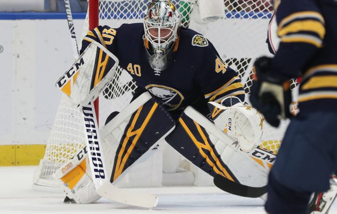 It's nine losses in a row and counting for Carter Hutton (James P. McCoy/News file photo)