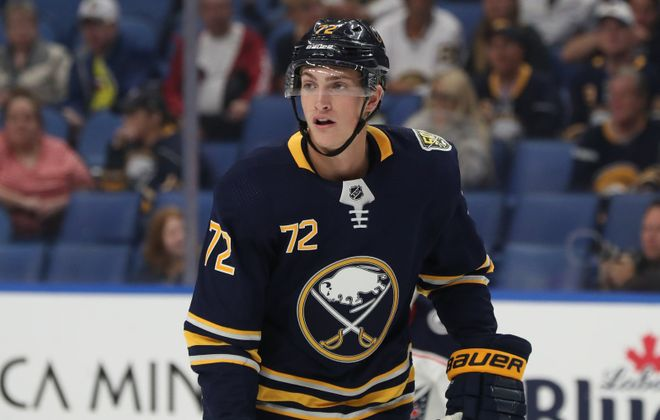 Tage Thompson played just one game for the Sabres this season. (James P. McCoy/Buffalo News)