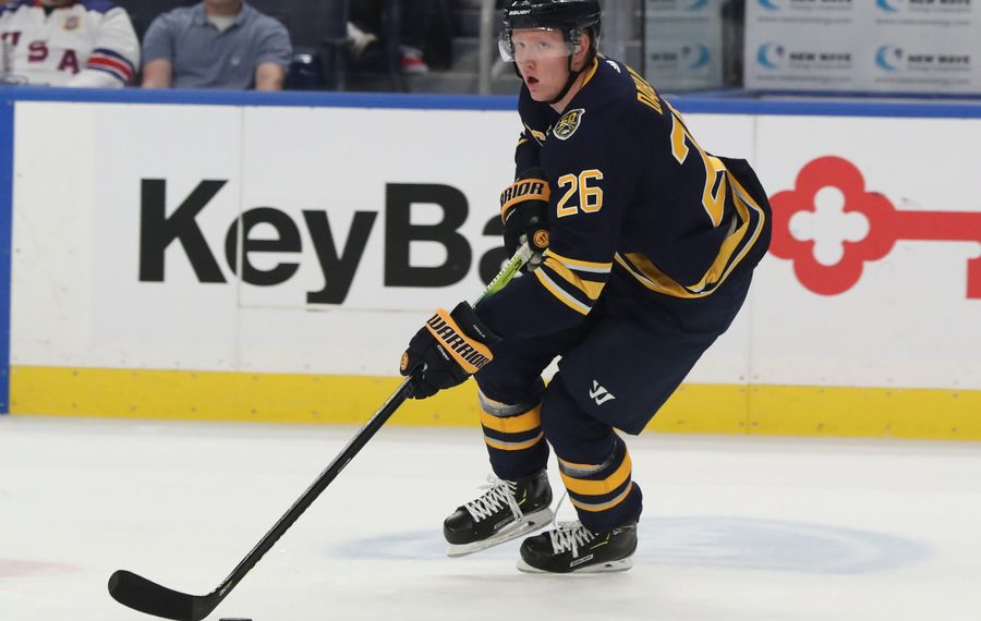 Rasmus Dahlin is one of six Swedes on the Sabres' roster. (James P. McCoy/News file photo).