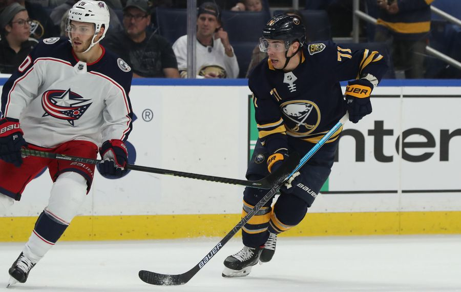 Evan Rodrigues has zero goals in 24 games for the Sabres this season. (James P. McCoy/Buffalo News)