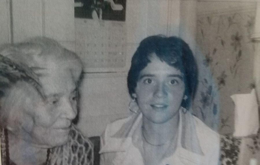 Alice Stokes Paul with Mary Brennan, now Mary Brennan-Taylor, in 1975. (Contributed photo)