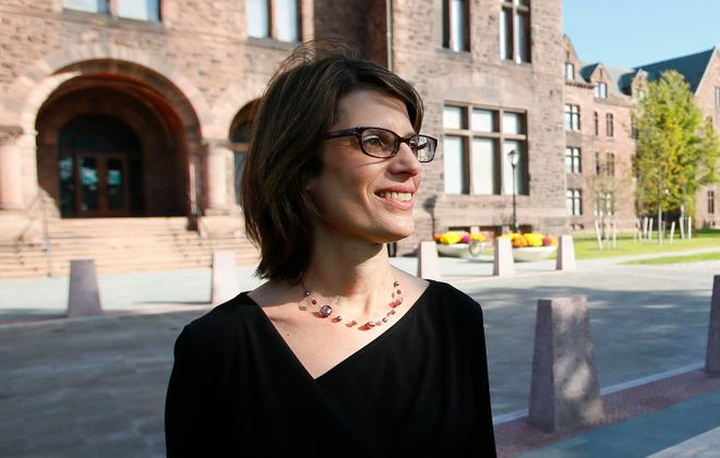 Monica Pellegrino Faix, the new executive director of the Central Terminal Restoration Corp., formerly led the Richardson Olmsted Campus' successful redevelopment and renovation. (Derek Gee/Buffalo News)