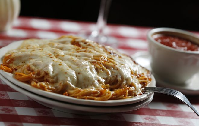 Spaghetti parmesan will be given to the first 97 customers for free on Chef's On the Go's opening day. (Sharon Cantillon/News file photo)