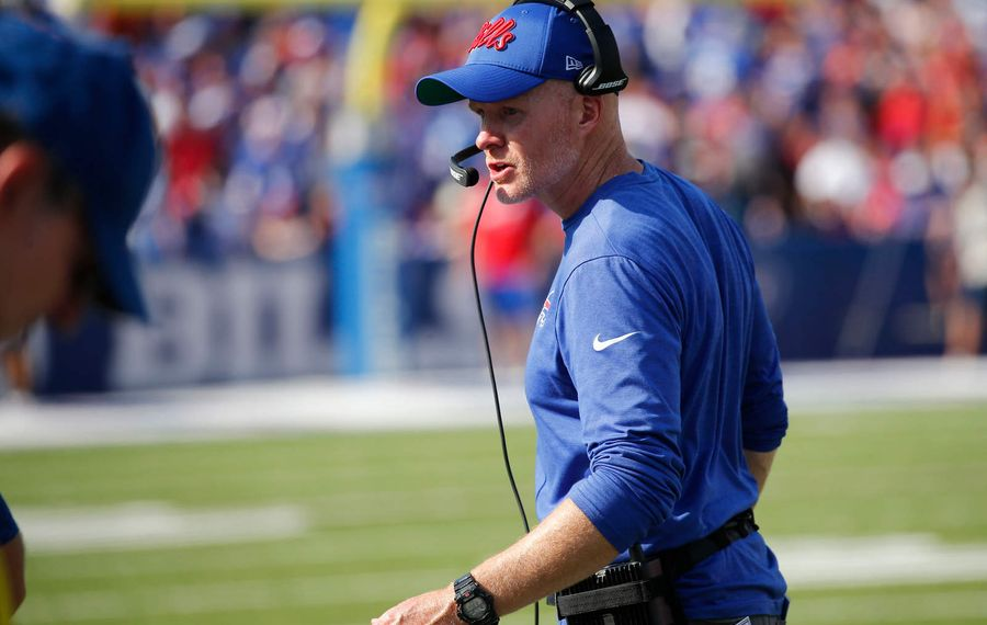 Bills coach Sean McDermott has his team off to its first 3-0 start since 2011. (Derek Gee/Buffalo News)