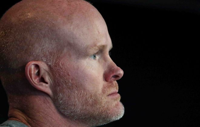 Bills head coach Sean McDermott is hoping to bounce back from last year's 6-10 record. (James P. McCoy/Buffalo News)