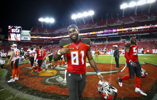 Anthony Johnson spent the spring and training camp with the Tampa Bay Buccaneers. (Will Vragovic/Getty Images)