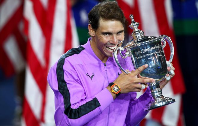 Rafael Nadal of Spain continues to accumulate Grand Slam victories (Clive Brunskill/Getty Images)