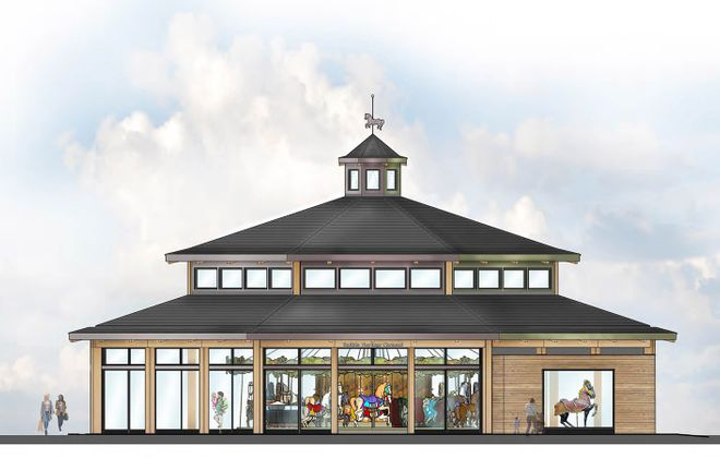 A rendering of the proposed carousel at Canalside. (Provided image)