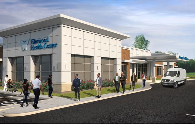 A rendering of the proposed new Elmwood Health Center at 800 Hertel, for People Inc. (Courtesy of Uniland Development Co.)