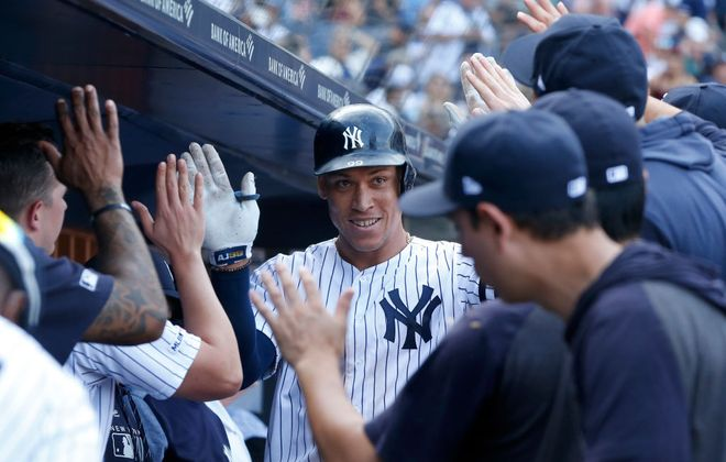 Aaron Judge is finding a late-season groove. (Getty Images).