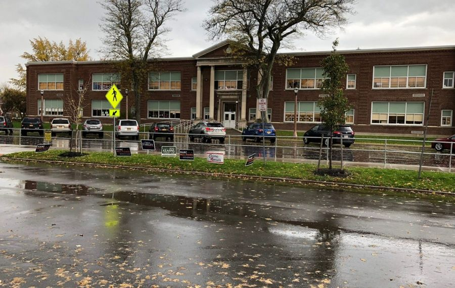 Lindbergh Elementary School is one of nine schools in the Ken-Ton district that would see renovations or new construction in a proposed $75 million capital project. The vote is set for Feb. 5. (Stephen T. Watson/Buffalo News)