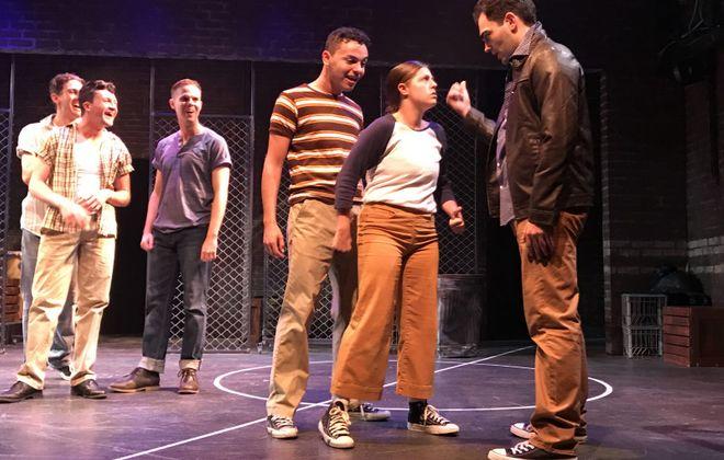 "MusicalFare's Theatre large cast for ""West Side Story including Thomas Evans, Brendan Didio, Dan Urtz, Joe Russi, Rheanna Gallego and Matthew DiVita."