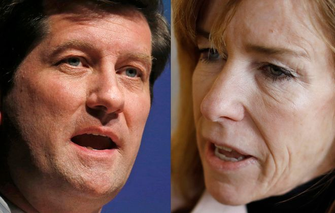 Incumbent Erie County Executive Mark Poloncarz, a Democrat, is facing a challenge from County Legislator Lynne Dixon, an Independence Party candidate running on the Republican line. (News File photos)