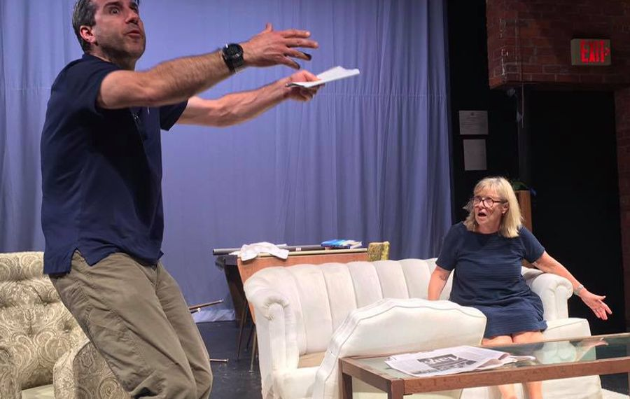 """Darryl Hart and Kathleen Rooney star in """"The Prisoner of Second Avenue,"""" playing Sept. 20-29 at the Taylor Theater in Lockport."""