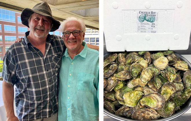 Johnny Flynn, owner of Colville Bay Oysters, traveled 18 hours each way to join us for our final Ponderoysterfest.