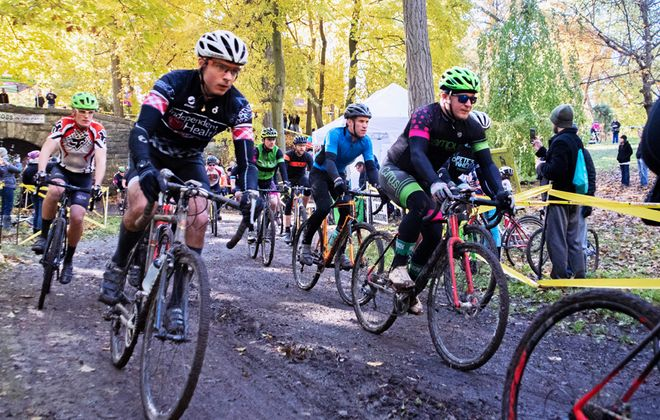 Scenes from Cross in the Park 2018: Riders speed through different terrain within the closed-course loop through Delaware Park. Photos courtesy of Mark Duggan.