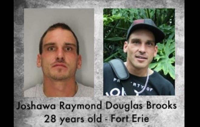A body was recovered from the Niagara River Saturday afternoon as police searched for Joshawa Raymond Douglas Brooks, 28, of Fort Erie, Ont. He is wanted on an attempted murder charge. (Niagara Regional Police Service)