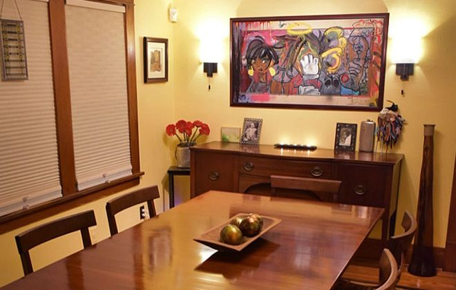The dining room in Renata Toney's East Side home. (Photos courtesy Renata Toney)