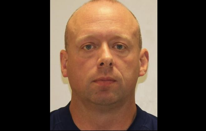 Jason Lanning, 45, of Depew, a former state trooper, has been charged with impersonating a trooper. (State Police)