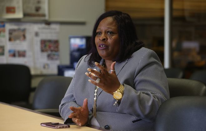 """Tina Sanders,  an organizer of Saturday's GYC Reunion, plans to make it an annual event to """"let our young people know about the history of the area"""" as well as to encourage development. (John Hickey/News file photo)"""